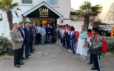 Cam Spice hosts representatives of Bangladesh at Street Children Cricket World Cup UK 2019